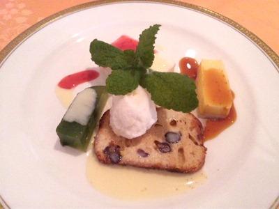 RESTAURANTAzurアジュール肉料理コースのデザート