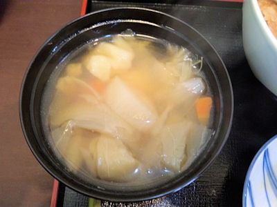 神戸牛丼広重神戸特上牛丼のスープ