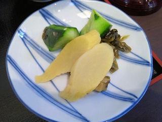 神戸牛丼広重神戸特上牛丼のお漬物