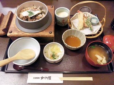 和食・しゃぶしゃぶかごの屋/春の釜飯天ぷらセット