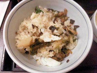 和食・しゃぶしゃぶかごの屋/春の釜飯天ぷらセットの釜飯