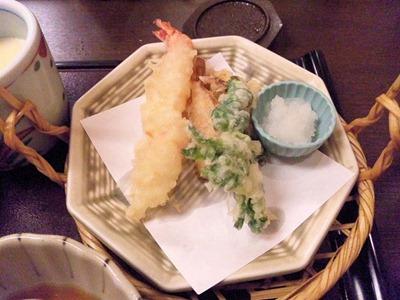 和食・しゃぶしゃぶかごの屋/春の釜飯天ぷらセットの天ぷら