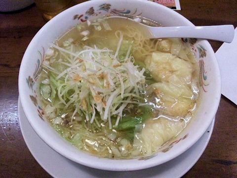 王将高砂店ぷりぷり海老ワンタン麺