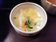 和食・しゃぶしゃぶかごの屋/春の釜飯天ぷらセットの香の物