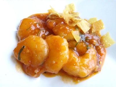 中国レストラン海螢広東ランチ/芝海老のチリソース