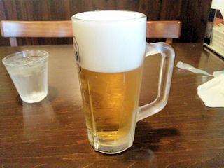 お食事処こころ無料の生ビール