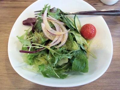 欧風カレー小夢玉ねぎと牛肉の洋風煮込みライス(牛丼風)のミニサラダ