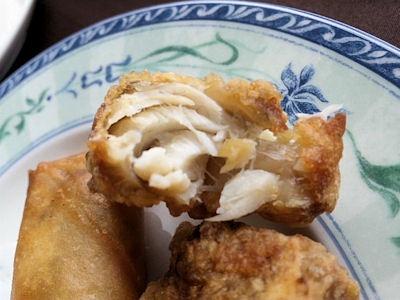 中国レストラン海螢広東ランチ/揚げ物二種盛り合わせゴマフグの唐揚げ
