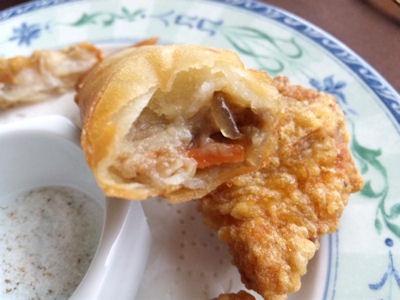 中国レストラン海螢広東ランチ/揚げ物二種盛り合わせ春巻き