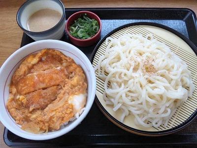 なか卯カツ丼(ミニ)と胡麻だれざるうどん(小盛)