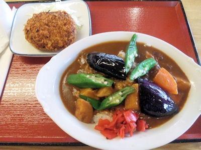加古川北在家食堂夏野菜たっぷりカレーと牛すじコロッケ