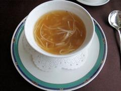 中国レストラン海螢広東ランチ/醤油風味のフカヒレスープ
