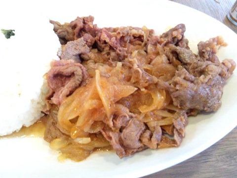 欧風カレー小夢玉ねぎと牛肉の洋風煮込みライス(牛丼風)