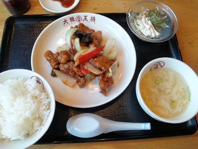 大阪王将/明石大久保店酢豚定食