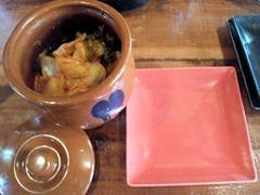 塩にこだわる、塩ラーメン店/多加藏の食べ放題のキムチ