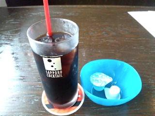グリルKATE【カテ】国産牛ステーキランチSETの食後のアイスコーヒー