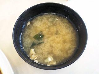 松屋オリジナルスパイシーカレーの味噌汁
