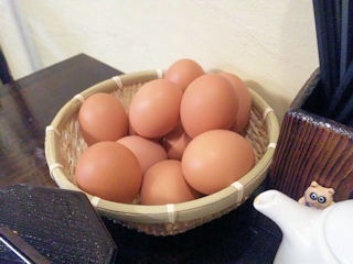 加古川農家食堂の食べ放題の生玉子