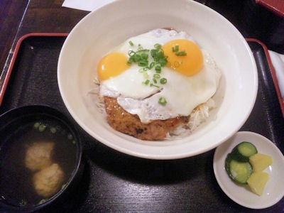 加古川農家食堂つくね丼と鳥だんご汁