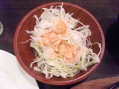 街の洋食屋さんグリルKOU日替り定食のサラダ