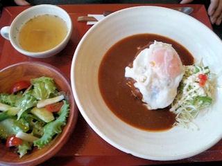 町家カフェ太郎茶屋鎌倉/ロコモコランチ