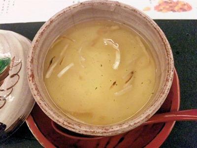 日本料理寿司玉響/松茸香味膳菱かにと百合根の豆乳蒸し松茸餡かけ