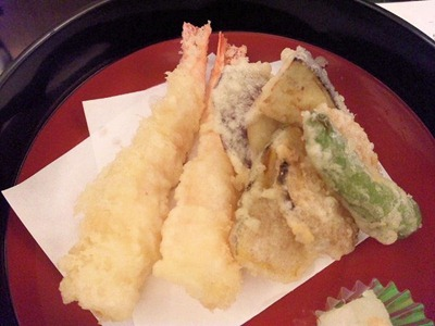 日本料理寿司玉響/松茸香味膳海老、松茸の天婦羅