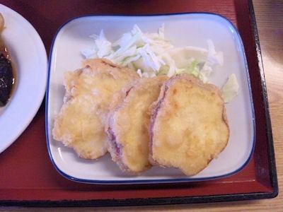 加古川北在家食堂さつまいもの天ぷら