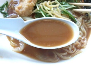 ラーメンとん太兵庫醤油ラーメンのスープ