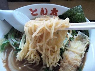 ラーメンとん太兵庫醤油ラーメンの麺
