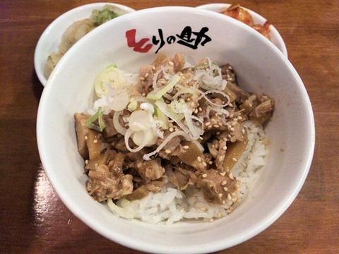 鶏白湯ラーメンとりの助無料豚ご飯