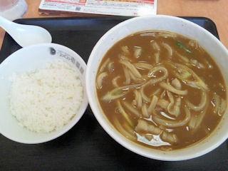 CoCo壱番屋カレーうどんとライス
