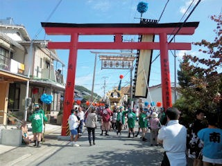 的形湊神社秋祭り