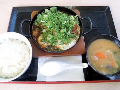 かつや青ねぎ味噌カツ鍋定食