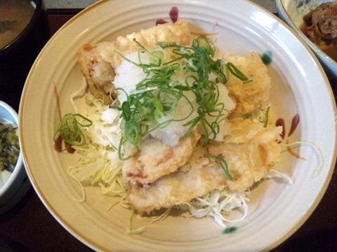 かごの屋日替り昼膳/豚肉の天ぷら(ねぎおろし)