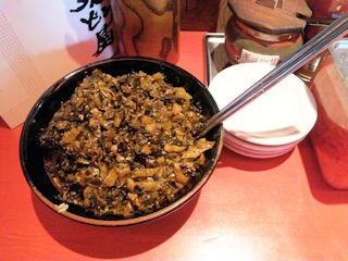 ラー麺ずんどう屋/食べ放題の高菜