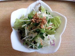 食事処やすべえカレーと肉吸い(ハーフ)のセットのサラダ