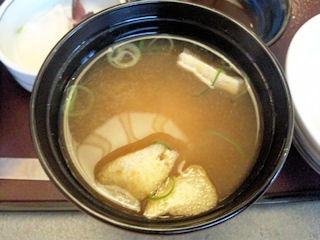 かごの屋姫路市民会館前店日替り昼膳みそ汁