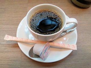 碇いかり屋ランチの食後のコーヒー
