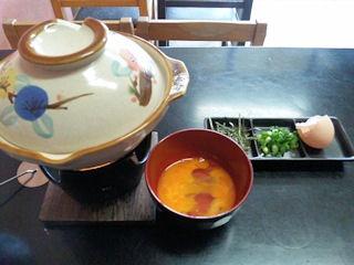 晴れる家かにすきラーメンの雑炊セット