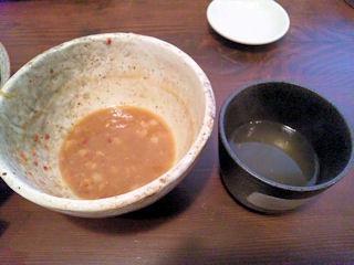 麺のまたざにんにく背脂つけ麺スープ割り