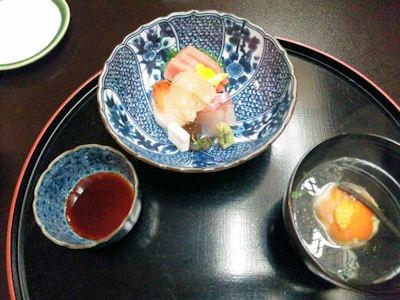 長嶋温泉ホテル花水木夕食お造りと椀物