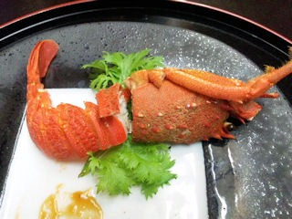 長嶋温泉ホテル花水木夕食伊勢海老の殻