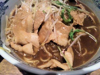 麺や六三六姫路店冬の肉そば黒