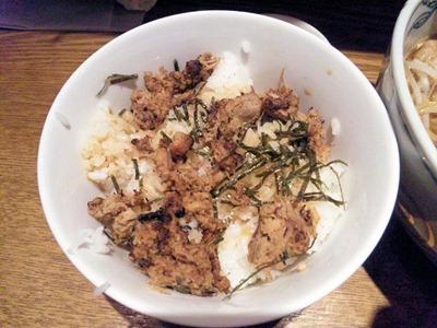 麺や六三六姫路店豚ほぐし丼