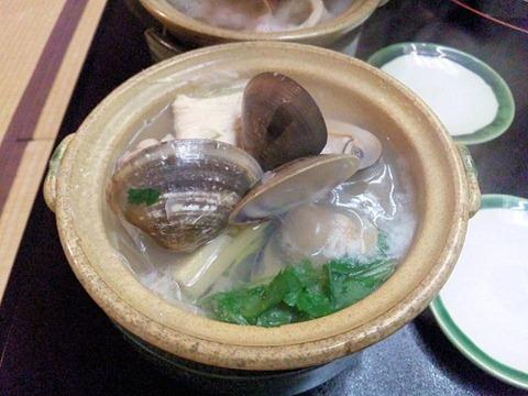 長嶋温泉ホテル花水木夕食はまぐり鍋
