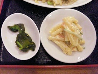 台湾料理錦福香日替りランチの漬物とサービスの一品