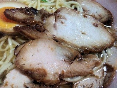 レンジで簡単笠岡風ラーメンの鶏チャーシュー