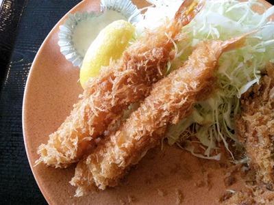 かつや東加古川店海老・ヒレカツ定食