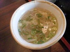 海鮮中華厨房張家日替りランチのスープ
